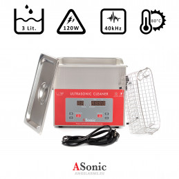 ASonic PRO 30 – 40kHz Ultrasonic Cleaner