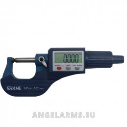 Double round digital micrometer 0-25mm SHAHE