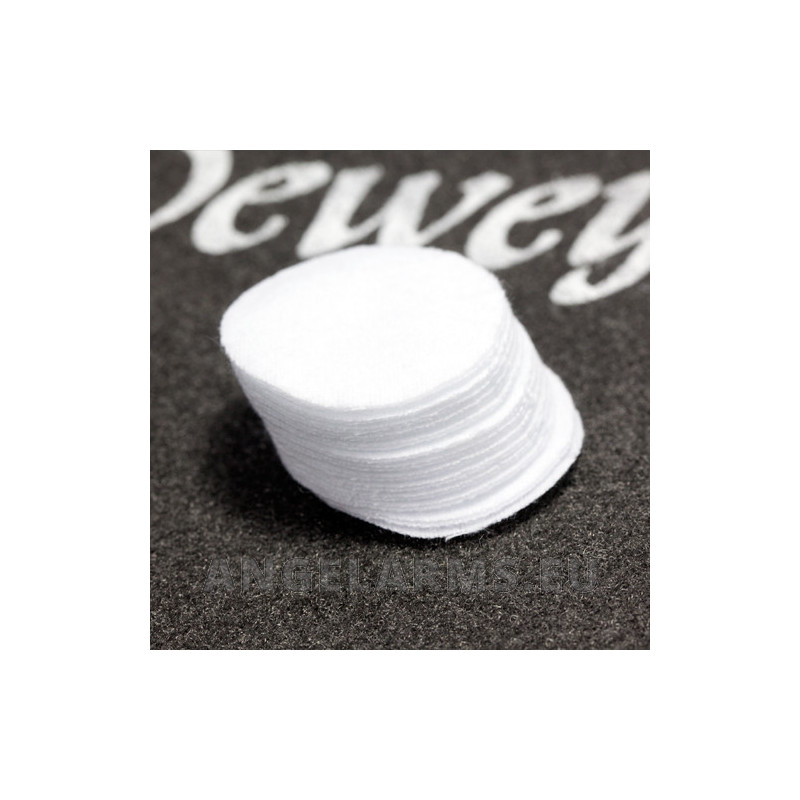 "Dewey 1-1/4"" Round Patches – 100/Bag for .22 Caliber. Model BP-171 100pcs"