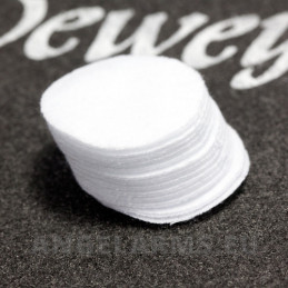 "Dewey 2"" Round Patches – 100/Bag for .30-.35 Caliber. Model P-271 100pcs"