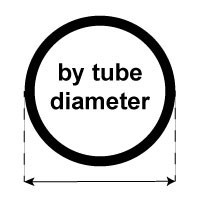 By tube diameter